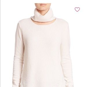 Elie Tahari Francesca Cutout Turtleneck Sweater